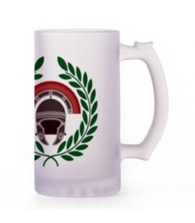 Beer mug Roman Centurion, crystal translucent