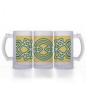 Beer mug Celtic Knots, glass translucent