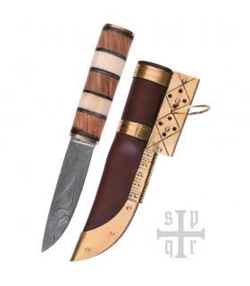 Knife Viking Seax, Damascus Steel
