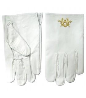 Gloves Masonic leather