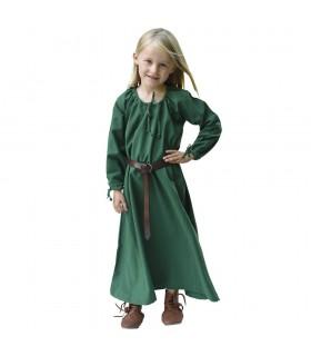 Dress viking green Ana, girl