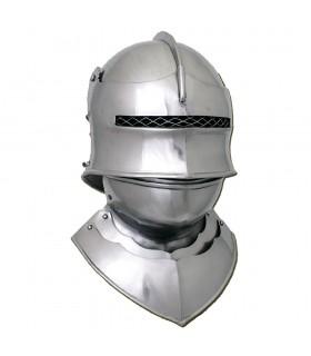 Helmet Sallet gothic with gorjal