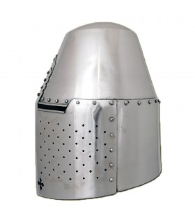 Helmet Templar riveted, steel 1.6 mm