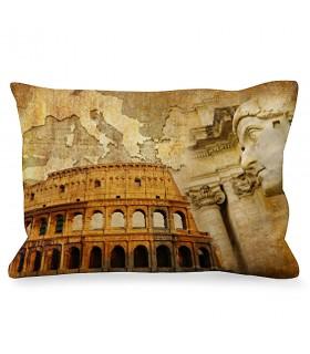 Cushion Rectangular Roman Emperor next to Colosseum