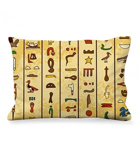 Cushion Rectangular Egyptian Hieroglyphics