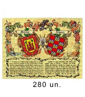 Puzzle Heraldic Shields 2 Surnames
