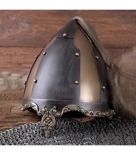 Helmet Viking ponytail