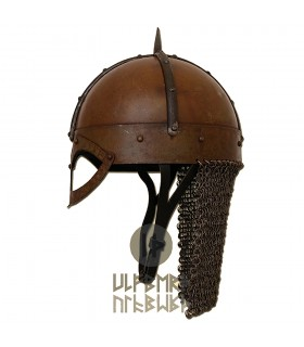 Helmet, Viking Gjermundbu with chainmail, Battle-Ready