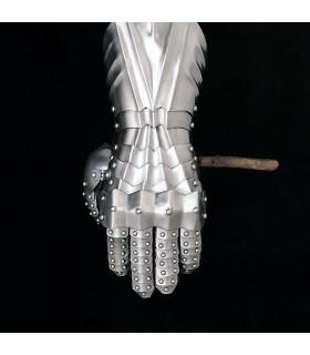 Gauntlets flanges shores, steel 1,3 mm