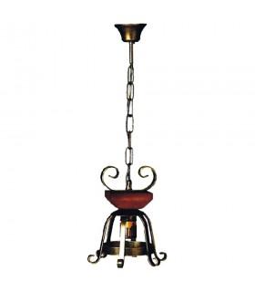 Lamp metalware medieval with wood