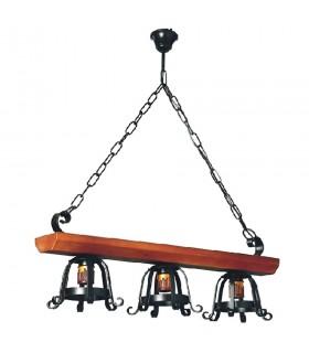 Lamp metalware medieval wood, various lights