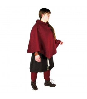 Gugel viking Egill, red wool
