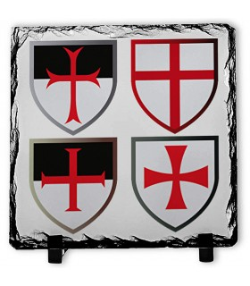 Crossings Knights Templar on Stone Slate (20x20 cms.)