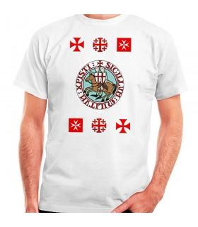 T-shirt Knights Templar cross, short sleeve