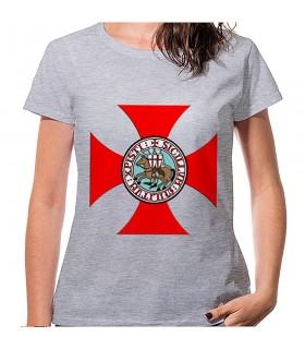 T-shirt Cross Templar Woman short sleeve, various colors