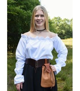 Blouse medieval white long sleeve, Carmen