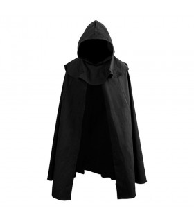 Black Cloak with hood. 100% cotton