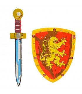 Kit shield and sword Heart of a Lion for children