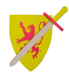 Kit shield and sword Lion for children