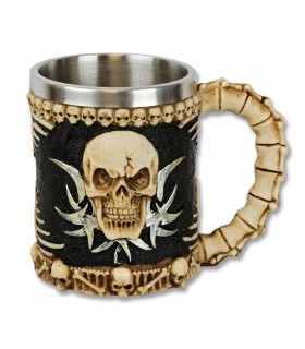 Jar decor bone skull