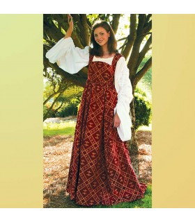 Dress medieval Flower of Lys