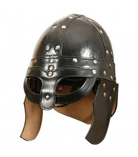 Helmet viking leather