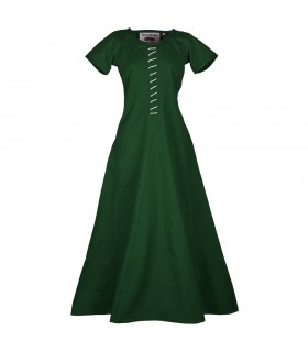 Dress medieval Ava with short sleeve