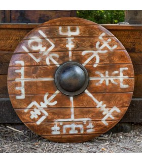 Shield Viking Vegvisir Iarla in latex, 80 cms.