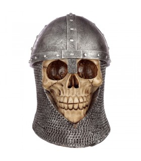 Miniature skull medieval helmet spangenhelm and executioner