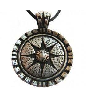 Pendant shield Celtic star of life