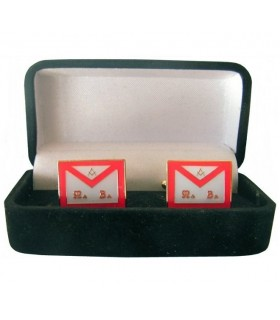 Cufflinks Masonic Apron REAA with jeweler