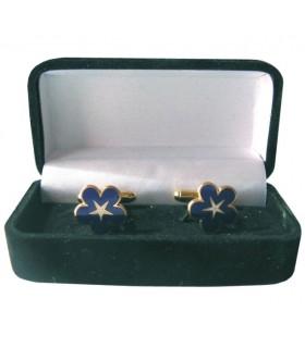 Cufflinks Masonic Miosota with Staff with jeweler