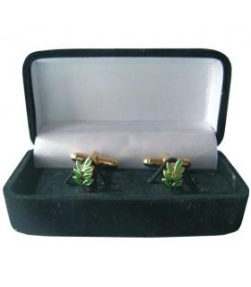 Cufflinks Masonic Branch of Acacia with jeweler