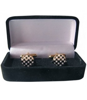 Cufflinks Masonic Cobblestone Mosaic jewelry box
