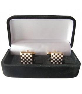 Cufflinks Masonic Paving stone Mosaic square jewelry box
