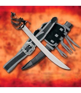Sword of Corsair Pirate with sheath leather