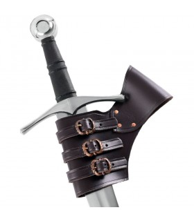 Tahalí for swords adjustable brown leather