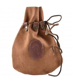 Bag Celtic skin suede with drawstring