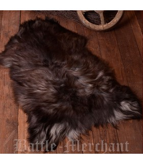 Sheep skin nordic mottled natural, 110 cms.
