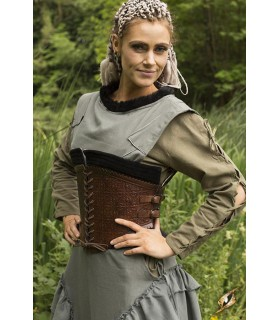 Corset medieval leather, Margot