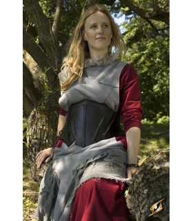 Corset medieval leather, the Elf of the Night