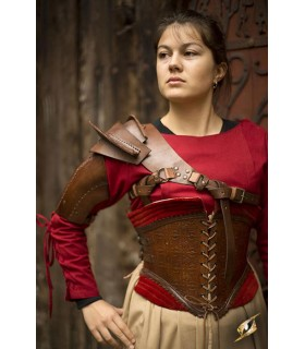 Protector for shoulder leather