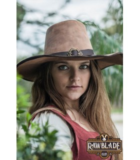 Hat DelaCroix media wing of the musketeers, light brown aged
