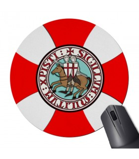 Mouse mat Mouse Round Knights Templar with Cross