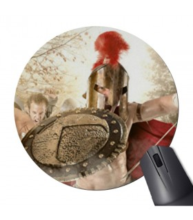 Mouse mat Mouse Round fight Spartans