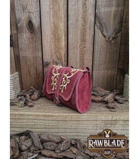 Bag Morwen Red with filigree leather