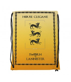 Backpack strings House Clegane of Game of Thrones (34x42 cm.)