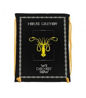 Backpack strings House GreyJoy of Game of Thrones (34x42 cm.)