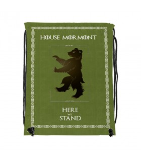 Backpack strings House Mormont of Game of Thrones (34x42 cm.)