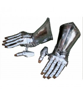 Gauntlets medieval Gothic, articulated